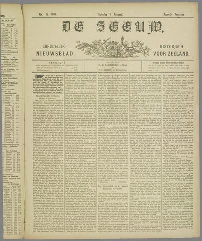 De Zeeuw. Christelijk-historisch nieuwsblad voor Zeeland 1895-01-05