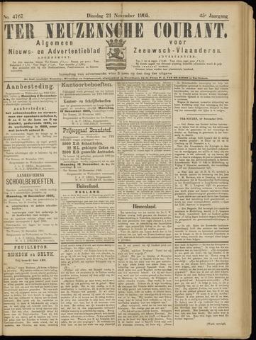 Ter Neuzensche Courant. Algemeen Nieuws- en Advertentieblad voor Zeeuwsch-Vlaanderen / Neuzensche Courant ... (idem) / (Algemeen) nieuws en advertentieblad voor Zeeuwsch-Vlaanderen 1905-11-21
