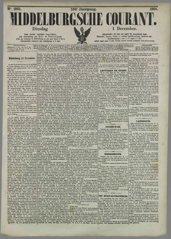 Middelburgsche Courant 1891-12-01