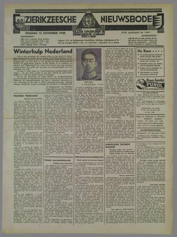 Zierikzeesche Nieuwsbode 1940-11-12