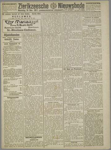 Zierikzeesche Nieuwsbode 1917-11-19