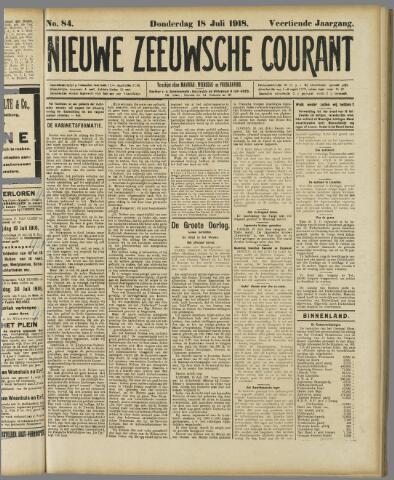 Nieuwe Zeeuwsche Courant 1918-07-18