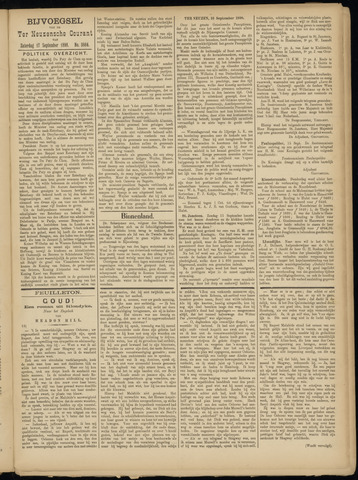 Ter Neuzensche Courant. Algemeen Nieuws- en Advertentieblad voor Zeeuwsch-Vlaanderen / Neuzensche Courant ... (idem) / (Algemeen) nieuws en advertentieblad voor Zeeuwsch-Vlaanderen 1898-09-17