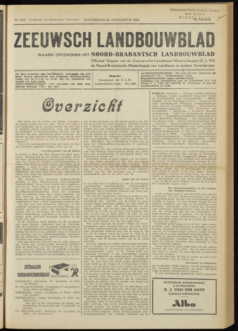 Zeeuwsch landbouwblad ... ZLM land- en tuinbouwblad 1952-08-16