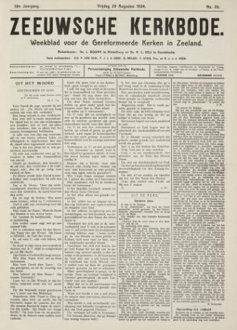 Zeeuwsche kerkbode, weekblad gewijd aan de belangen der gereformeerde kerken/ Zeeuwsch kerkblad 1924-08-29