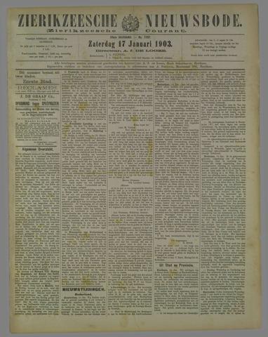 Zierikzeesche Nieuwsbode 1903-01-17