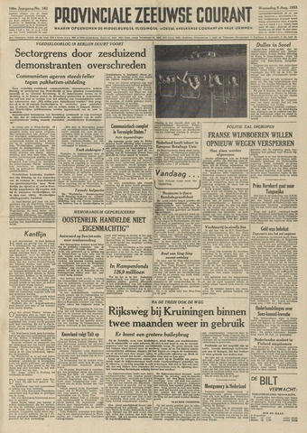 Provinciale Zeeuwse Courant 1953-08-05