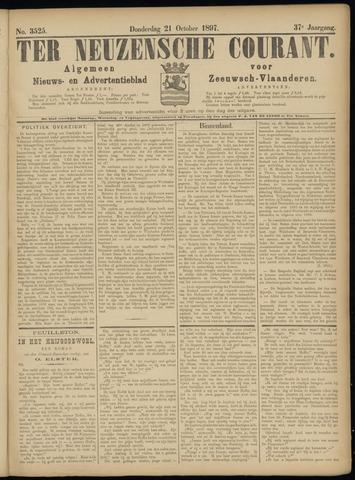 Ter Neuzensche Courant. Algemeen Nieuws- en Advertentieblad voor Zeeuwsch-Vlaanderen / Neuzensche Courant ... (idem) / (Algemeen) nieuws en advertentieblad voor Zeeuwsch-Vlaanderen 1897-10-21