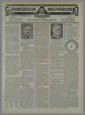 Zierikzeesche Nieuwsbode 1940-02-21