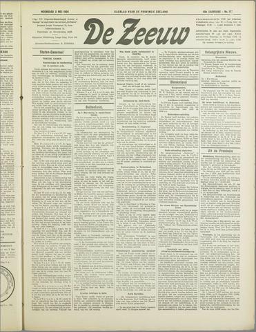 De Zeeuw. Christelijk-historisch nieuwsblad voor Zeeland 1934-05-02
