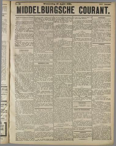 Middelburgsche Courant 1921-04-13