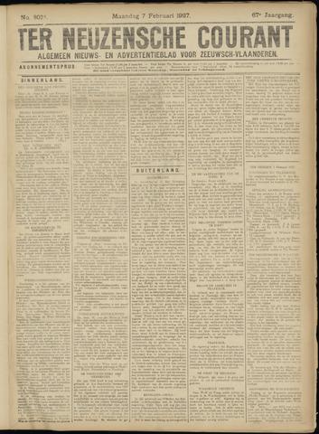 Ter Neuzensche Courant. Algemeen Nieuws- en Advertentieblad voor Zeeuwsch-Vlaanderen / Neuzensche Courant ... (idem) / (Algemeen) nieuws en advertentieblad voor Zeeuwsch-Vlaanderen 1927-02-07
