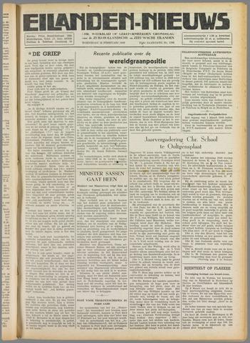 Eilanden-nieuws. Christelijk streekblad op gereformeerde grondslag 1949-02-16