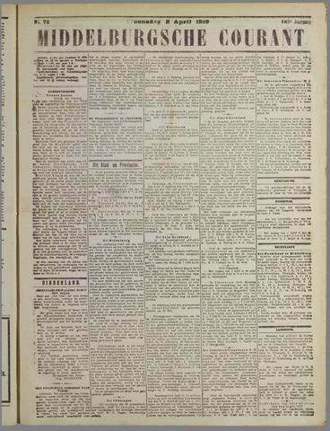 Middelburgsche Courant 1919-04-02