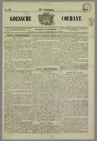 Goessche Courant 1854-12-07