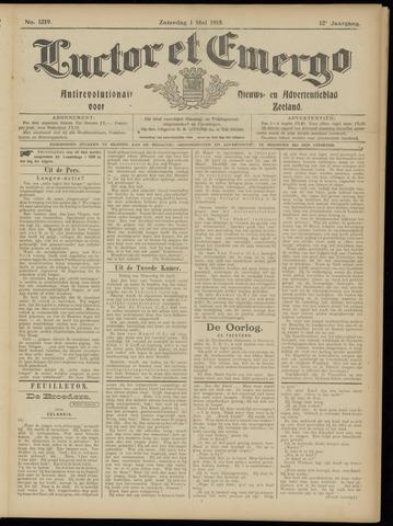Luctor et Emergo. Antirevolutionair nieuws- en advertentieblad voor Zeeland / Zeeuwsch-Vlaanderen. Orgaan ter verspreiding van de christelijke beginselen in Zeeuwsch-Vlaanderen 1915-05-01