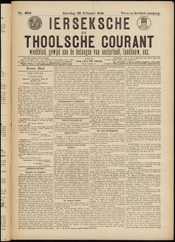 Ierseksche en Thoolsche Courant 1916-05-26