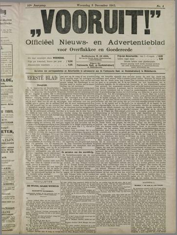"""""""Vooruit!""""Officieel Nieuws- en Advertentieblad voor Overflakkee en Goedereede 1915-12-08"""