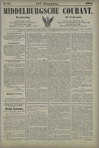 Middelburgsche Courant 1884-02-28
