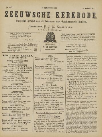 Zeeuwsche kerkbode, weekblad gewijd aan de belangen der gereformeerde kerken/ Zeeuwsch kerkblad 1890-02-15