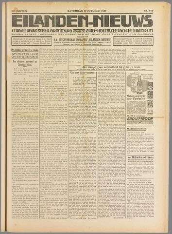 Eilanden-nieuws. Christelijk streekblad op gereformeerde grondslag 1938-10-08