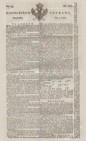 Middelburgsche Courant 1761-04-09
