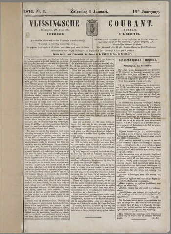 Vlissingse Courant 1876