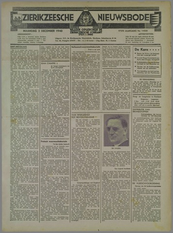 Zierikzeesche Nieuwsbode 1940-12-02