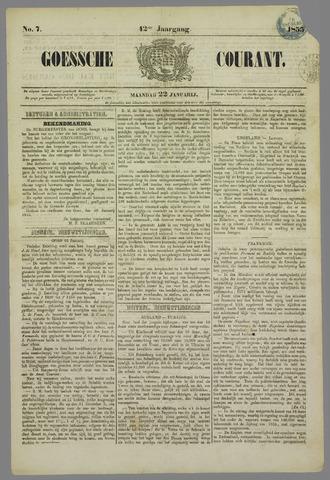 Goessche Courant 1855-01-22