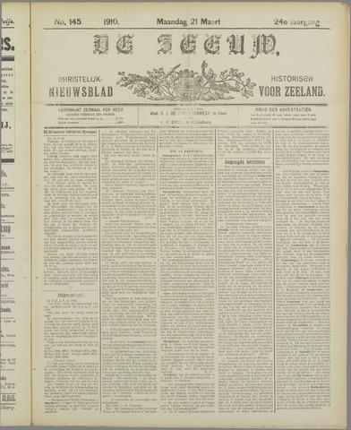De Zeeuw. Christelijk-historisch nieuwsblad voor Zeeland 1910-03-21