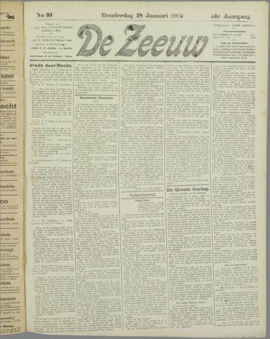 De Zeeuw. Christelijk-historisch nieuwsblad voor Zeeland 1917-01-18