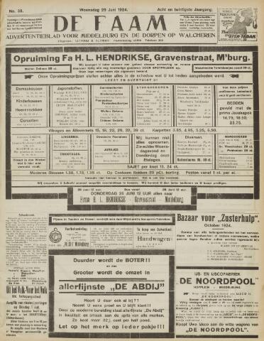 de Faam en de Faam/de Vlissinger 1924-06-25