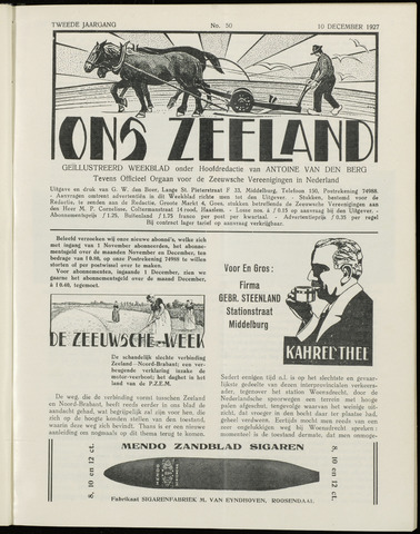 Ons Zeeland / Zeeuwsche editie 1927-12-10