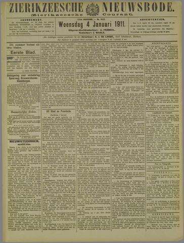 Zierikzeesche Nieuwsbode 1911-01-04
