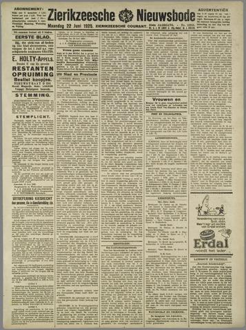 Zierikzeesche Nieuwsbode 1925-06-22