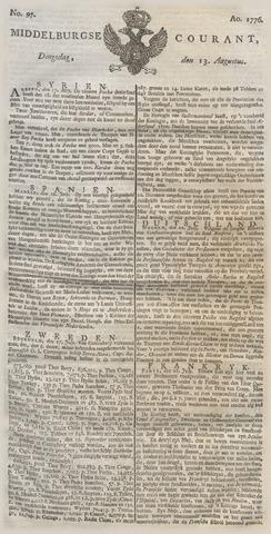 Middelburgsche Courant 1776-08-13