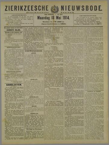 Zierikzeesche Nieuwsbode 1914-05-18
