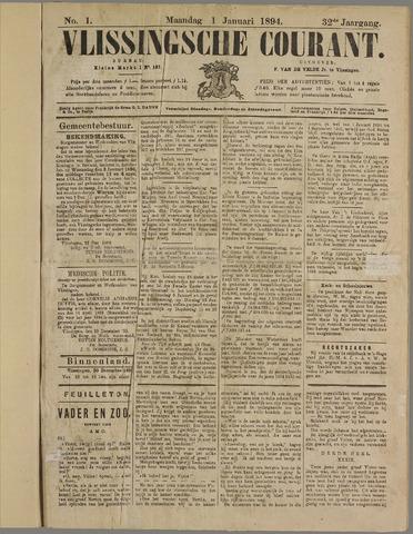 Vlissingse Courant 1894