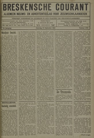 Breskensche Courant 1922-09-23