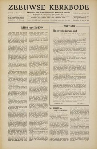 Zeeuwsche kerkbode, weekblad gewijd aan de belangen der gereformeerde kerken/ Zeeuwsch kerkblad 1955-10-14