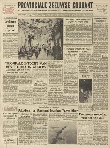 Provinciale Zeeuwse Courant 1962-07-04
