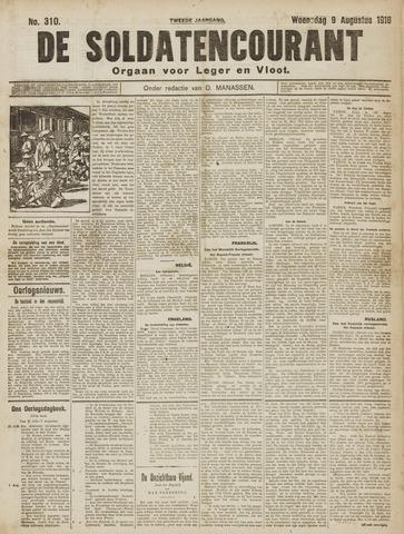De Soldatencourant. Orgaan voor Leger en Vloot 1916-08-09