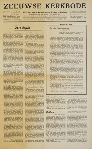 Zeeuwsche kerkbode, weekblad gewijd aan de belangen der gereformeerde kerken/ Zeeuwsch kerkblad 1958-01-03