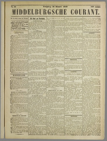 Middelburgsche Courant 1919-03-21