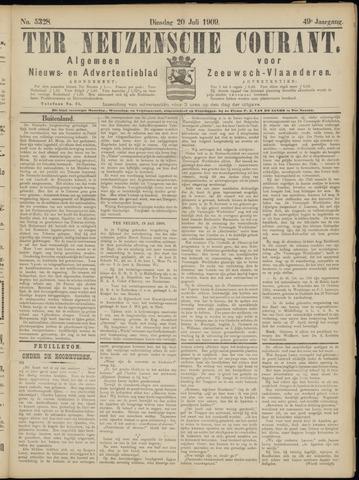 Ter Neuzensche Courant. Algemeen Nieuws- en Advertentieblad voor Zeeuwsch-Vlaanderen / Neuzensche Courant ... (idem) / (Algemeen) nieuws en advertentieblad voor Zeeuwsch-Vlaanderen 1909-07-20