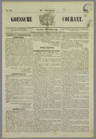 Goessche Courant 1854-02-13