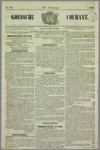 Goessche Courant 1855-10-01