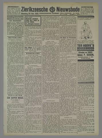Zierikzeesche Nieuwsbode 1933-02-20