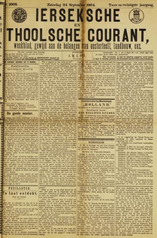 Ierseksche en Thoolsche Courant 1904-09-24
