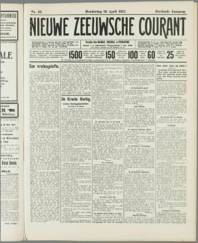 Nieuwe Zeeuwsche Courant 1917-04-26